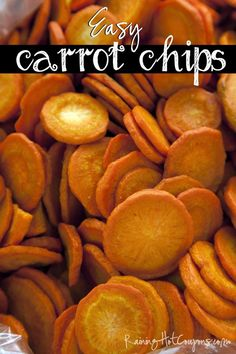 Baked carrot chips -- Healthy Snacks