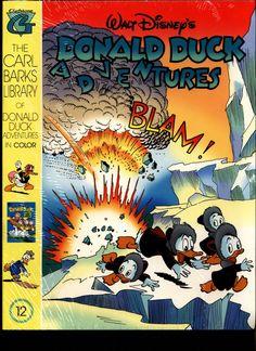 SEALED Walt Disney's Donald Duck Adventures The CARL BARKS Library of Donald Duck Adventures in Color #12 N M With Card Vintage Ephemera, Vintage Books, Donald Duck Comic, Disney Duck, Walt Disney Animation Studios, Psychobilly, Comic Covers, Ducks, Marvel Comics
