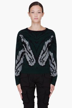 ALTUZARRA Green Cashmere Naples Sweater