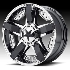KMC XD Series XD811 RS2 Rockstar II Chrome PVD Custom Wheels Rims