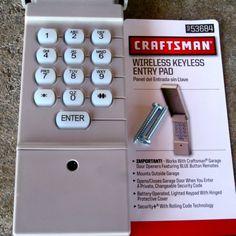 Lovely Craftsman Wireless Keyless Entry Pad