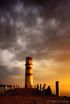 The Lighthouse - Podersdorf, Neusiedlersee, Austria: by Helena Ludwig Beacon Of Light, New Brunswick, Light House, Us Travel, Hungary, Austria, Photo Art, Shelter, Beautiful Things