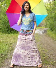 Grape Pop Maxi Skirt #liviniseasy @Soul Flower