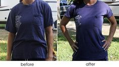 Good idea to make your t-shirts more feminine