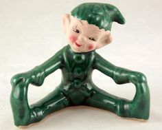 Vintage Gilner Happy People green pixie elf with outstretched legs California