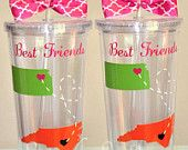 Best Friend State tumbler. 16 ounce cups.