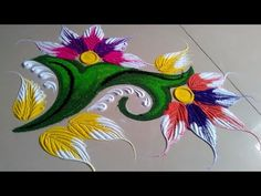 New latest attractive rangoli design by Jyoti Raut Rangoli Easy Rangoli Designs Diwali, Diwali Special Rangoli Design, Rangoli Simple, Rangoli Designs Latest, Rangoli Designs Flower, Latest Rangoli, Rangoli Patterns, Colorful Rangoli Designs, Rangoli Ideas
