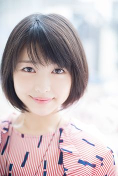 Proud of cute Japanese girls with meek eyes, angel's smile and graceful shyness. Japanese Short Hair, Japanese Eyes, Asian Short Hair, Girl Short Hair, Japanese Beauty, Asian Beauty, Beautiful Japanese Girl, Beautiful Asian Women, Prity Girl