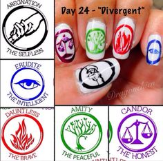 Divergent Nails. LOVE THESE NAILS