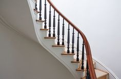 Original wooden stairs in a Brooklyn brownstone remodel (from apartments to single family house) by architect Drew Lang | Remodelista