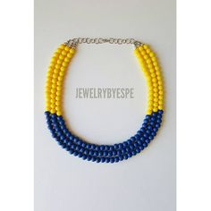 Hey, I found this really awesome Etsy listing at https://www.etsy.com/listing/509542398/yellow-necklace-navy-blue-necklace