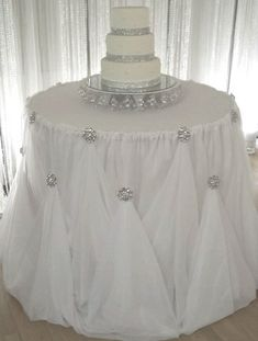 Cake Table Draping - Wedding Event Planner & Decorator