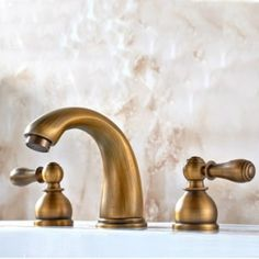 Antique Brass Finish Widespread Bathroom Sink Tap TP0451A