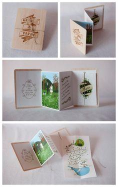 hand-made sweet wedding invitation