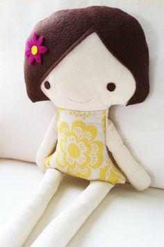 doll sewing pattern, zo een schattig popje...