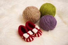 Red baby slippers Red baby socks baby leg warmers by LovelyPaw