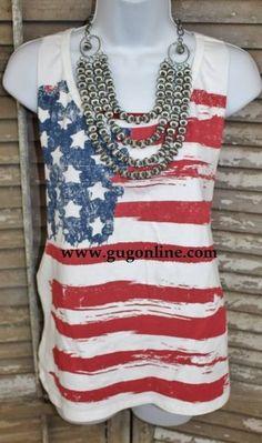 Giddy Up Glamour American Flag Tanktop Take 10% off your order by entering code GUGRepLDavidson at checkout! #giddyupglamouratexascheergirl #giddyupglamour