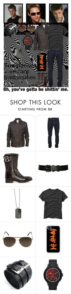 """""""KR: TNG: Mike Knight"""" by just-call-me-chuck ❤ liked on Polyvore featuring Undercover, Diesel, Paul Smith, Prada, 1928, Gap, Vince Camuto, Samsung, Shield and men's fashion"""