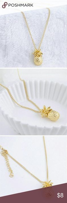 """Gold Plated Pineapple Necklace Brand new item Perfect gift idea  Necklace length: 24"""", 2"""" extension chain Jewelry Necklaces"""