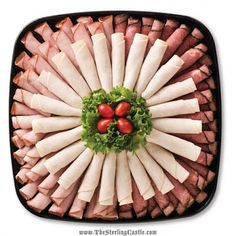 pictures of deli meat and cheese trays Meat Cheese Platters, Deli Platters, Deli Tray, Meat Trays, Meat Platter, Food Platters, Fingers Food, Sandwich Bar, Sandwiches