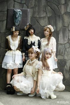 Grown-up women dressing up like little girls or dolls and looking like them, think its sick & very bizarre ~ Sweet lolita. Japanese street fashion... Dolly & Cult Party Styles