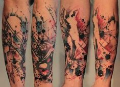 Half Sleeve Tattoos Watercolor Design