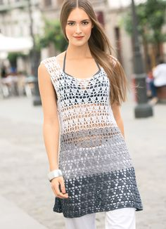 Ажурное платье с градиентом
