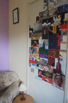 collage on the door.