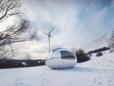 Nice Architects Ecocapsule Solar-Powered Off-Grid Egg Home