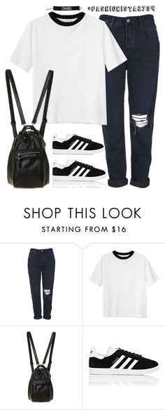 """Untitled #877"" by fashionista2704 ❤ liked on Polyvore featuring Topshop, Monki and adidas"