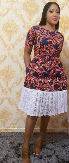 African Fashion Ankara, Latest African Fashion Dresses, African Print Fashion, Africa Fashion, Ethnic Fashion, Nigerian Dress Styles, Short African Dresses, Short Gowns, Simple Dress Styles