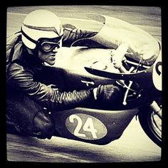 Before full face helmets, it helped to have an aerodynamic chin.  Speed face for Paul Smart in his early years with a 250 Ducati.