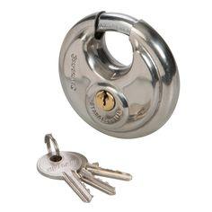 d50488ec4f Silverline 70mm Disc Lock Security Padlock With 3 Keys 292707