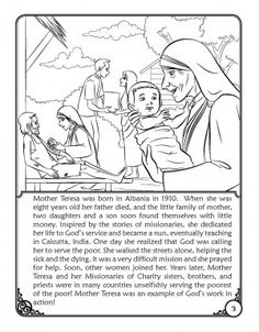 Look To Him And Be Radiant Saints Coloring Pages Bl Mother Teresa