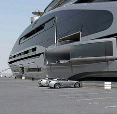 super cars and a yacht! Yacht Design, Super Yachts, Cool Boats, Small Boats, Billionaire Lifestyle, Yacht Boat, Private Jet, Private Yacht, Jet Ski