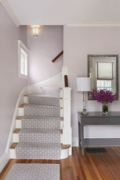 Benjamin Moore's Violet Pearl Dining Room and Kitchen
