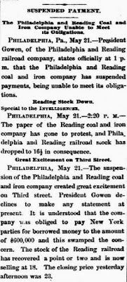 Genealogical Gems: On This Day: Philadelphia and Reading coal and iro...