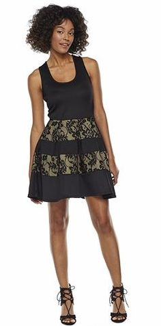 Trixxi Lace Blocked Skater Dress - Juniors  Kohls d184b6e808d