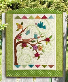 """Out of the Nest"" by Wendy Sheppard (from The Quilter August/September 2012 issue)"