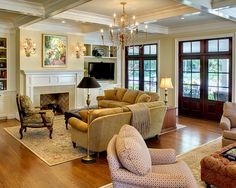 Traditional Family Room Design, Pictures, Remodel, Decor and Ideas - page 98