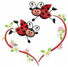 Hand Embroidery, Machine Embroidery, Lady Bug Tattoo, Ladybug Art, Baby Bug, Theme Background, Chalk Art, Heart Art, Painted Rocks