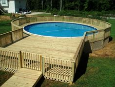 wooden above ground pool fencing