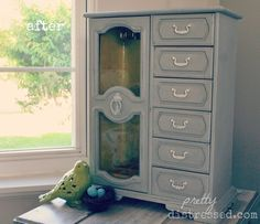 Jewelry box - after Paris Grey and Old White Chalk Paint® by Annie Sloan