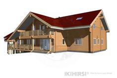 CH3-550 - IKIHIRSI® Log Houses, Cabin, House Styles, Model, Beautiful, Design, Home Decor, Timber Homes, Log Homes