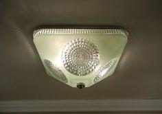Vintage 1930's Harmony House Ceiling Light by VintageGlassLights