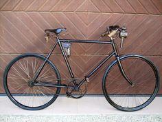 uraltes Oldtimer Fahrrad 1904 Halbrenner Fahrrad großes Kettenblatt Adler NSU