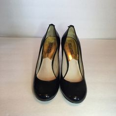"Michel Kors Black pumps Michael Kors rounded toe patent leather pumps. Size is 6 1/2 M with 3"" heels. This is gently used but there are no scuff marks visible anywhere in the shoe when wearing. It practically looks brand new. MICHAEL Michael Kors Shoes Heels"
