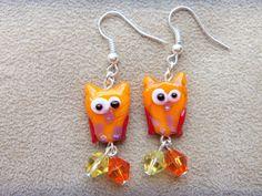 Owl Lampwork Earrings