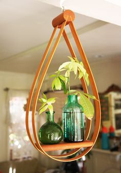 bentwood plant hanger found on @Etsy