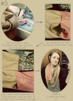 DIY: patchwork infinity scarf
